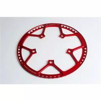Litepro chainring Sepeda Lipat Gear Gir Depan Guard CNC 130 BCD - Merah, 56T