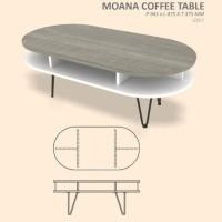 MOANA COFFEE TABLE MINIMALIS MULTIFUNGSI 95*48*38CM - 3 PILIHAN WARNA