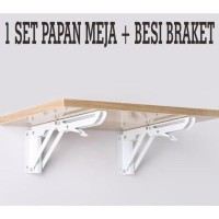 RAK DINDING MEJA DINDING LIPAT/FLOATING FOLDABLE SHELF TABLE/RAK LIPAT