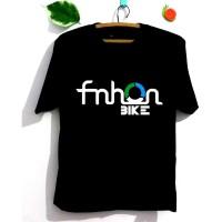 Kaos Sepeda Lipat FNHON Pria Wanita - Lengan Pendek / Panjang - Putih, Lengan Pendek