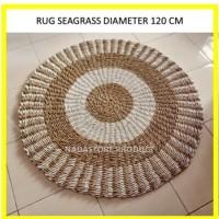 Rug Natural Zebra 120cm / Karpet Anyaman / Karpet Seagrass Naturalan