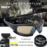 DAISY X7 kacamata sepeda / kacamata militer polisi polarized 4 lensa