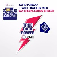 LIVE.ON Kartu perdana + Paket Data Power On 25GB By XL AXIATA 4.5G