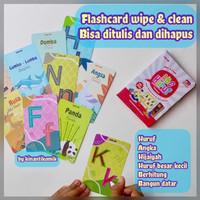 Flashcard Wipe & Clean Bisa Ditulis Dihapus Kartu Pintar BALITA