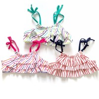 Baju renang bikini atasan Anak / bayi perempuan branded (oldvy stripe) - navy atasan aja, size 4T