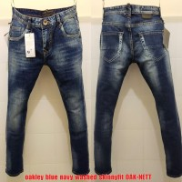 Celana Panjang Jeans Oak Blue Navy Washed Skinnyfit(not levis guess)
