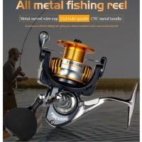 Fishing DEUKIO Spinning Reel FBE2000-7000 Badan Logam Max Drag 8-10Kg