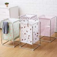 Keranjang cucian stand /tempat baju kotor /keranjang laundry