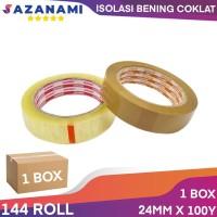 1 Box Isolasi Bening 1 Inch X 100Y sazanami lakban selotip (gojek)