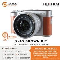 FUJIFILM X-A5 BROWN KIT XC 15-45mm F3.5-5.6 OIS PZ - SCORE 8 / XA5