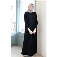 gamis plisket black edition