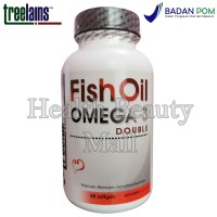 Treelains Fish Oil Omega 3 Double 1000mg 60 softgels - Minyak Ikan