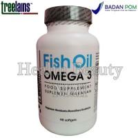 Treelains Fish Oil Omega 3 90 Softgels 180/120 1000mg - Minyak Ikan