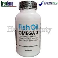 Treelains Fish Oil Omega 3 60 Softgels 180/120 1000mg - Minyak Ikan