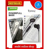 headset powerfull bass wired hippo toraz earphone original murah