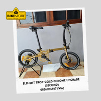 sepeda lipat element troy Gold Chrome (second - upgrade)