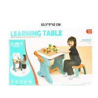 Mainan anak laki perempuan mainan edukasi learning table, meja belajar