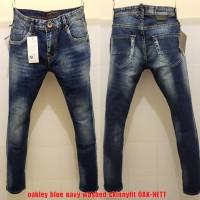 Celana Panjang Jeans Oak Navy Washed skinnyfit(nt guess levis lv gucci