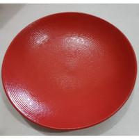 Dinner Plate Red texture| Piring Hias |Ekspor Murah HN