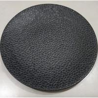 Dinner Plate black solid texture| Piring Hias |Ekspor Murah HN