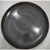 Dinner Plate Elegant Dark Grey | Piring Hias |Ekspor Murah HN