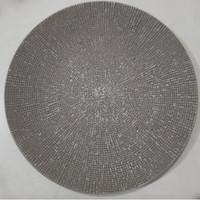 Dinner Plate Motif Dark Grey Embossed| Piring Hias |Ekspor Murah HN