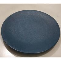 Dinner Plate Blue Texture | Piring Hias |Ekspor Murah HN