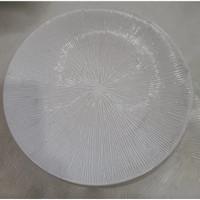 Dinner Plate Motif Embossed White D.27.5cm | Ekspor