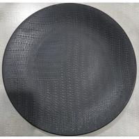 Dinner Plate Black Texture -Rpt| Piring Hias |Ekspor Murah HN
