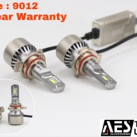 Turbo Led 9012 Hir2 Merk AES I Lampu led headlamp depan mobil