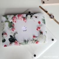 Macbook Air New 13 Mac Book Rose Flower Case Cover Hard Soft Casing