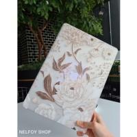 Macbook Air New 13 Mac Book Flower Gold Case Cover Hard Soft Casing