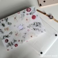 Macbook Air New 13 Mac Book Flower Rose Case Cover Hard Soft Casing