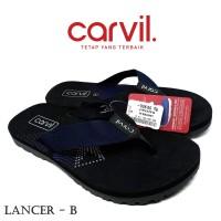 Sandal Pria Carvil Original Anti Air - Sendal Carvil Pria Lancer Blue