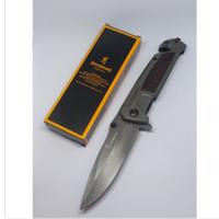 Pisau Lipat Browning Folding Knife - Abu-Abu