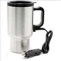 Taffware Gelas Insulasi Car Kettle Stainless Steel & Pemanas 12V 450mL