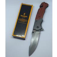 Pisau Lipat Browning Folding Knife - Cokelat Abu