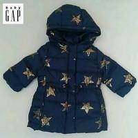 Jaket winter anak perempuan merk Baby Gap sisa ekspor(Navy star)