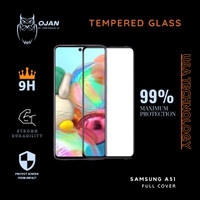 Tempered Glass 9H SAMSUNG A51 FULL COVER MURAH MERIAH !!!