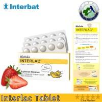 Interlac Probiotic Tablet Isi 30 Tablet (Rasa Strawbery) - BioGaia