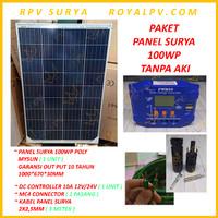 Paket Solar Cell 100WP Panel Surya 100WP Solar Panel 100WP