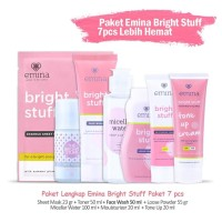 Paket Lengkap Skincare Emina Bright Stuff Murah - Komplit 7 pcs/7 item