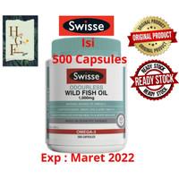 Swisse Ultiboost Odourless Wild Fish Oil 1000mg 500 Capsules