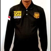KAOS SECURITY TURN BACK CRIME LENGAN PANJANG - KAOS KERAH TBC SECURITY