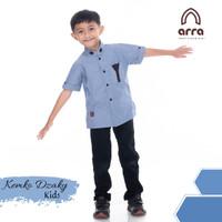 Baju Muslim Anak series Dzaky Original Brand ARRA - Biru, S