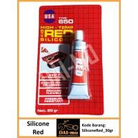 Super Red Silicone 30gr/ Lem Packing warna merah 30 gr/ Silikon Red