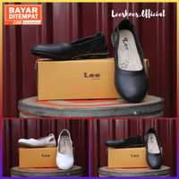Sepatu Wanita Hitam Polos - Kode LE3 Original Leeshoes Official Store