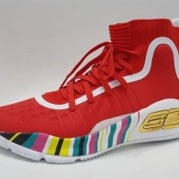UNDER ARMOUR CURRY 4 RED SEPATU BASKET