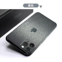 Sticker Garskin Metal Brushed iPhone 11 Pro Max Garskin iPhone X Xr Xs - Hitam, iPhone X Xs