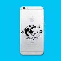 Tokomonster Decal Sticker Apple iPhone - Cow 02 - 4 Buah